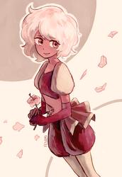 a single pale rose by Fenori