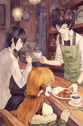 just another day in cafe leblanc by Fenori