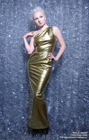 Gold PVC Dress by AgnaDevi