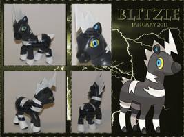 OOAK My Little Pony - Blitzle : Shimama - Pokemon by stormfaerie