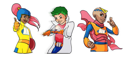 Activity Works Heroes (Busts) by chitobein