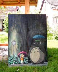Totoro cabinet doors by PakstraX