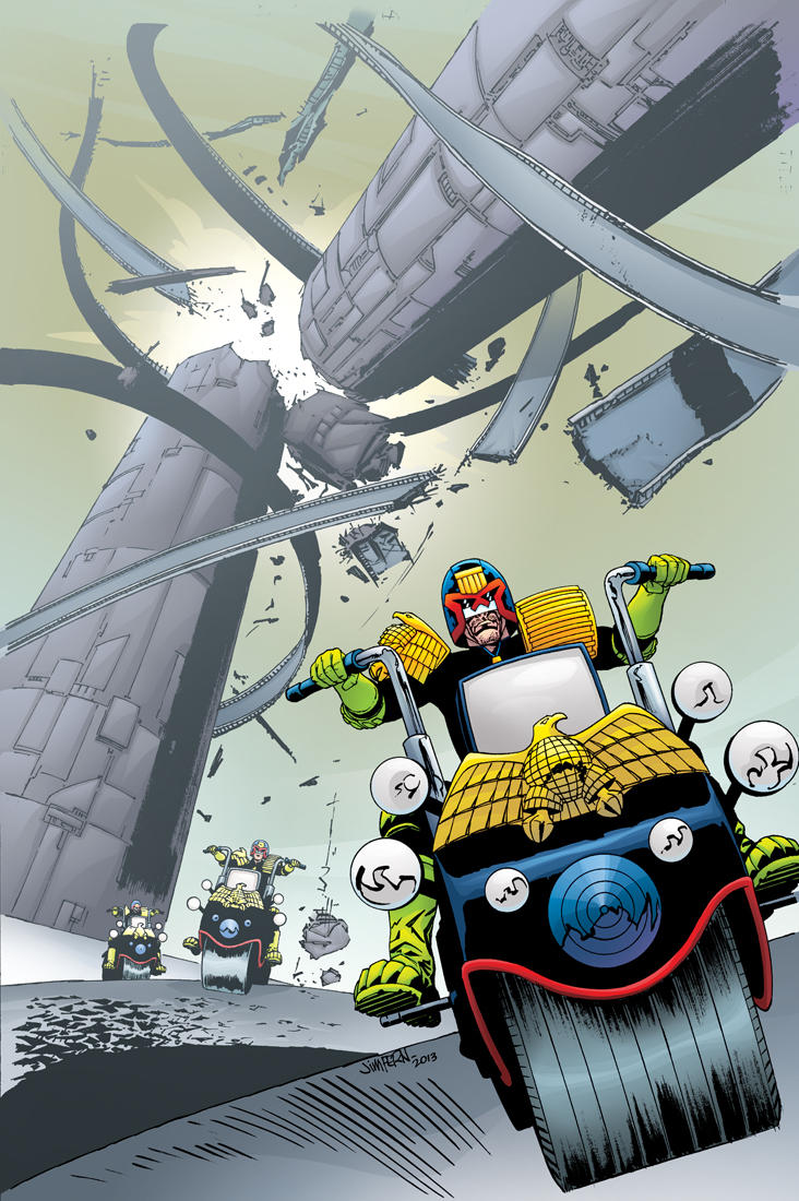 Judge Dredd Classics #6 cover by tommullin