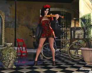 Catrina and violin by maukzone