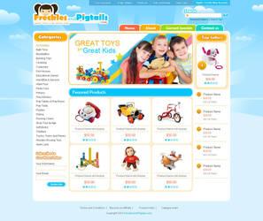 frecklesandpigtails website by ruakbar