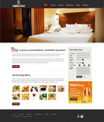 Hotel Website Mockup by ruakbar