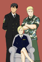 Reiner, Bert, Annie - Navy seal AU by Hanatsuki89