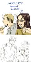 Survey Corps' Morning routine by Hanatsuki89