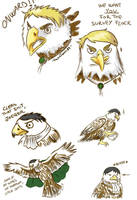 SnK doodles - Survey Flock by Hanatsuki89