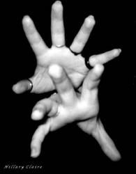 grayscale fingertips by twoazaleas