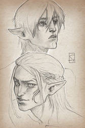 #Sketch_Dragonage by sagasketchbook