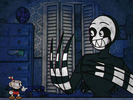 Cuphead in: NIGHTMARE SONG by Mrs-Spring45