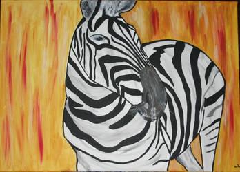 Zebra in spring by butterfly87
