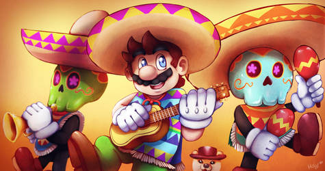 Tostarena's musicians - Super Mario Odyssey by LC-Holy