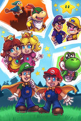 Super Mario Kids by LC-Holy