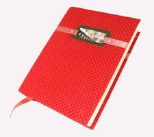 Polka dot notebook by Katlinegrey
