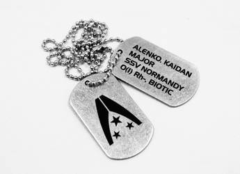 Kaidan Alenko dog tags by Katlinegrey