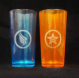 Paragon and renegade glasses by Katlinegrey