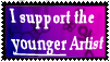 I support the younger artist by Ash-Dragon-wolf