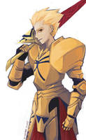 Fate/Zero   Gilgamesh with Enuma Elish by BlackPawCat
