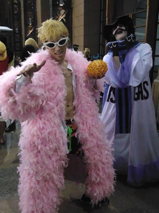 Caesar Clown and Doflamingo - One Piece (cosplay) by MugiwaraTeamCosplay