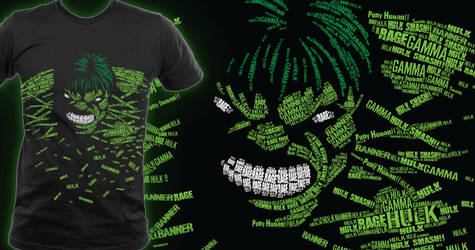 Incredible Hulk T-shirt submission for Threadless by halegrafx