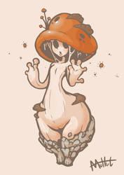 Cute mushroomgirl by MuHut