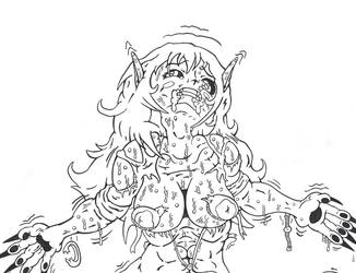 Mackenzie the Herm Moon Beast Preview Clean by TheLoneWolf12666