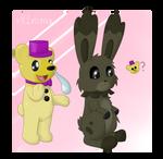 Fredplush and Plushtrap - FNAF Pokemon crossover by XK1RARAX