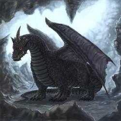 black dragon by misledtomisery