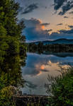 Blue twilight reflections by Arts-of-Cendrayliss