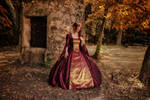 Ball gown's Perlasanguis_Magic stolen moment by Arts-of-Cendrayliss