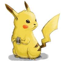 Om nom nom Pikachu by lieusum
