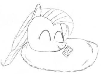 Fluttershy and Blanket by WashboardIn