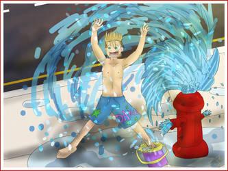 Kingdom Hearts - Summertime Demyx by Muffo11