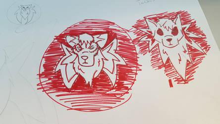 Tachi logo sketch  by Muffo11