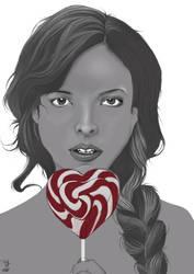 Indila - Portrait by RedTigger