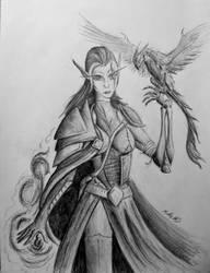 Lady Claira - Leader of Dark elven rebellion by ChaosDominus