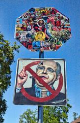 Zoltron vs Limbaugh Street by stickerobot