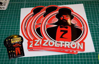 zoltron vs sticker robot by stickerobot