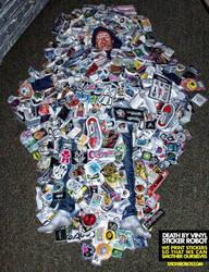 death by vinyl by stickerobot