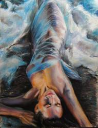 girl on beach by Booze528