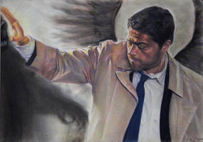 Castiel Smites Monster by Booze528
