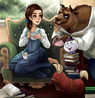 Beauty and the Beast by Pastel-le