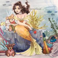 Belle the Mermaid by Pastel-le
