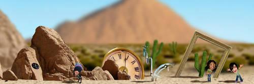 Desert Environment C.U. by Eyth