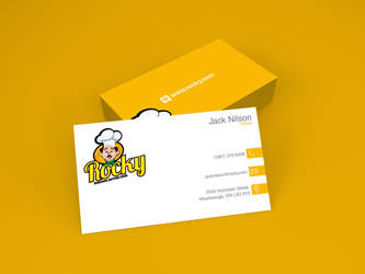 Rocky's Owner Business Cards by IAKhan