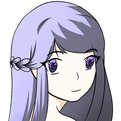 lilac hair girl by ElvenCari