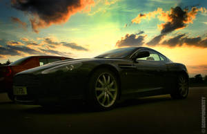 Aston Martin sunset by ScorpionEntity
