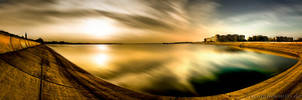Panoramic Sunset Exposed HDR by ScorpionEntity